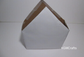 cover with paper and cut triangle