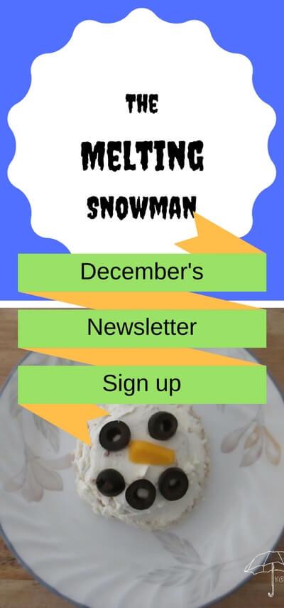 the melting snowman