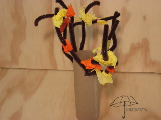 fall pipe cleaner tree