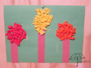 tissue paper fall trees