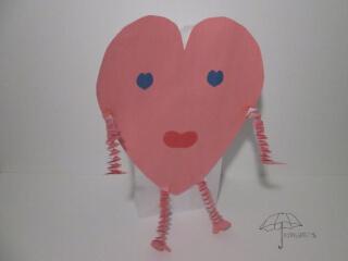 Valentine card bag
