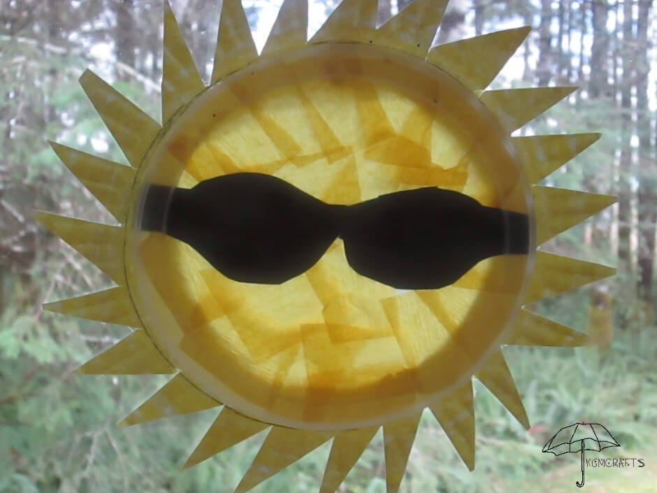 sun with sunglasses suncatcher