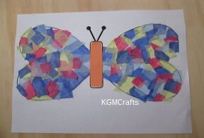 glue body to butterfly