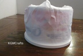 cover the cottage cheese container