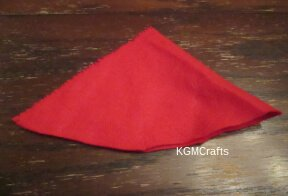 cut a piece of felt for the hat