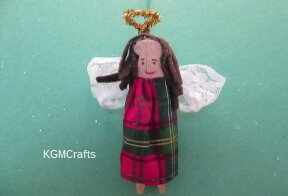 thumbnail of clothespin angel
