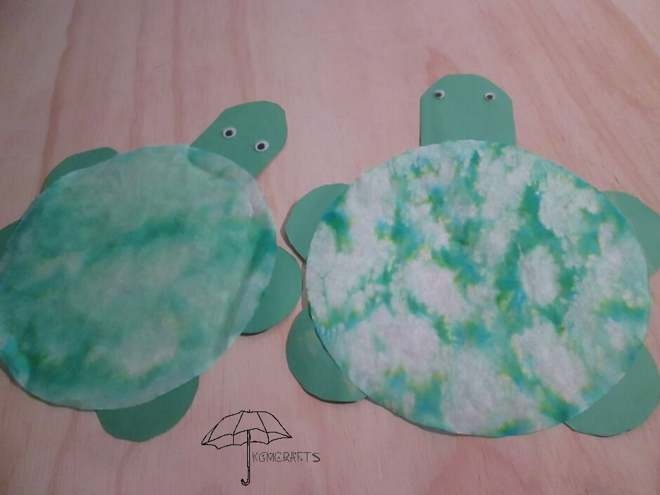 coffee filter turtles