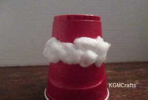 add the cotton to the cup