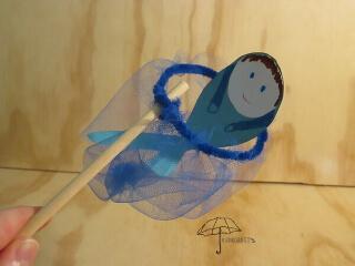 a fishing net to help kids remember a Bible verse