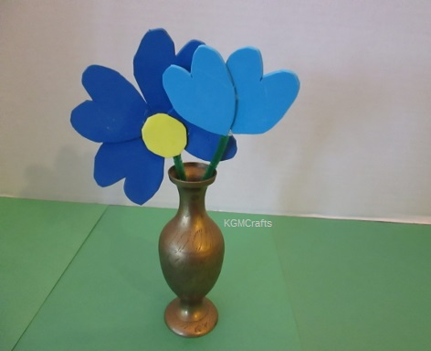 finished blue flowers