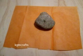 cover rock with orange tissue