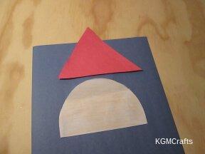 cut a triangle and a half circle