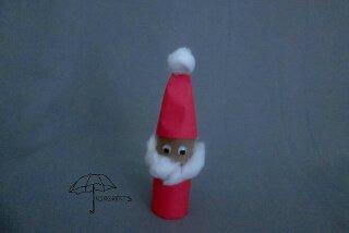 toilet roll Santa