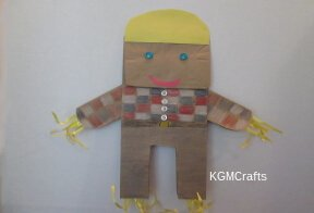link to paper bag scarecrow