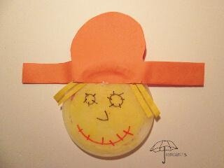 a sun catcher scarecrow