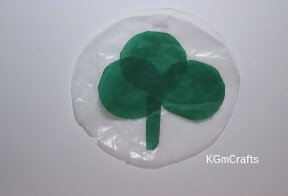 glue shapes in a shamrock