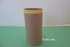 attach yellow paper to the toilet roll