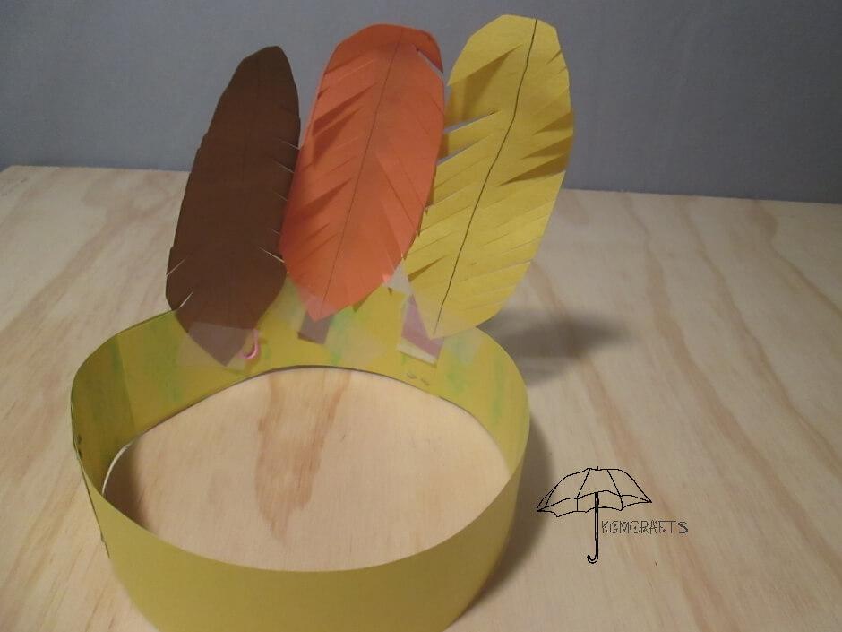 turkey feather hat