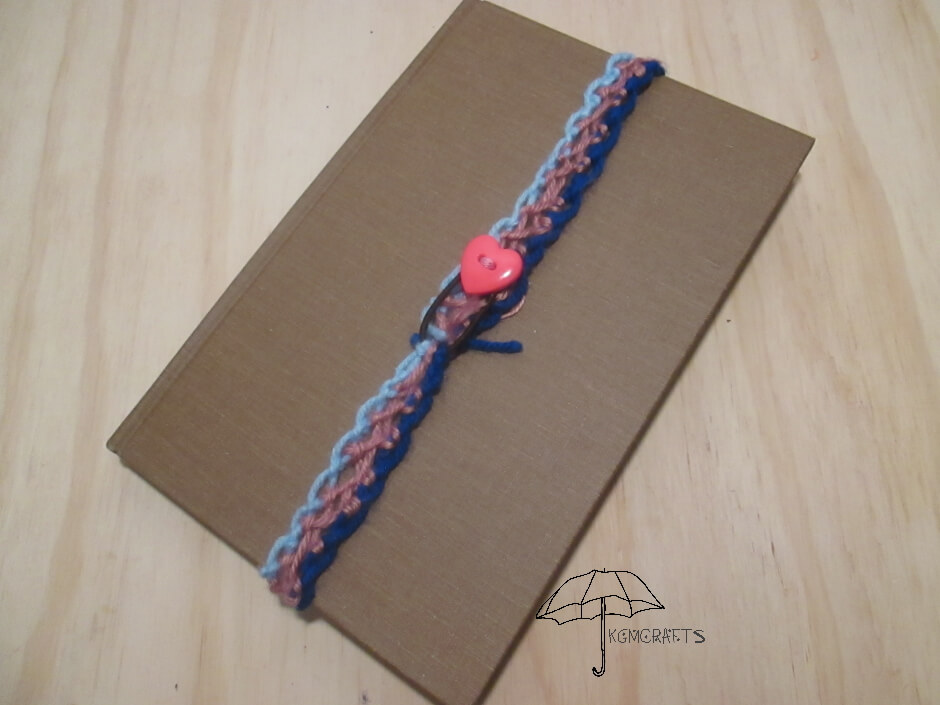 knotted yarn bookmark
