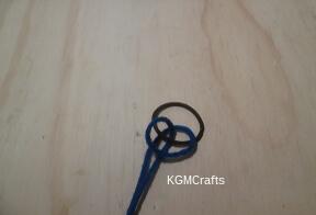 add yarn to ponytail holder