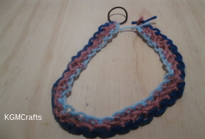 continue knotting until it is the right length