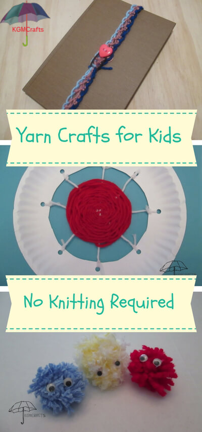 yarn crafts for kids easy to make projects